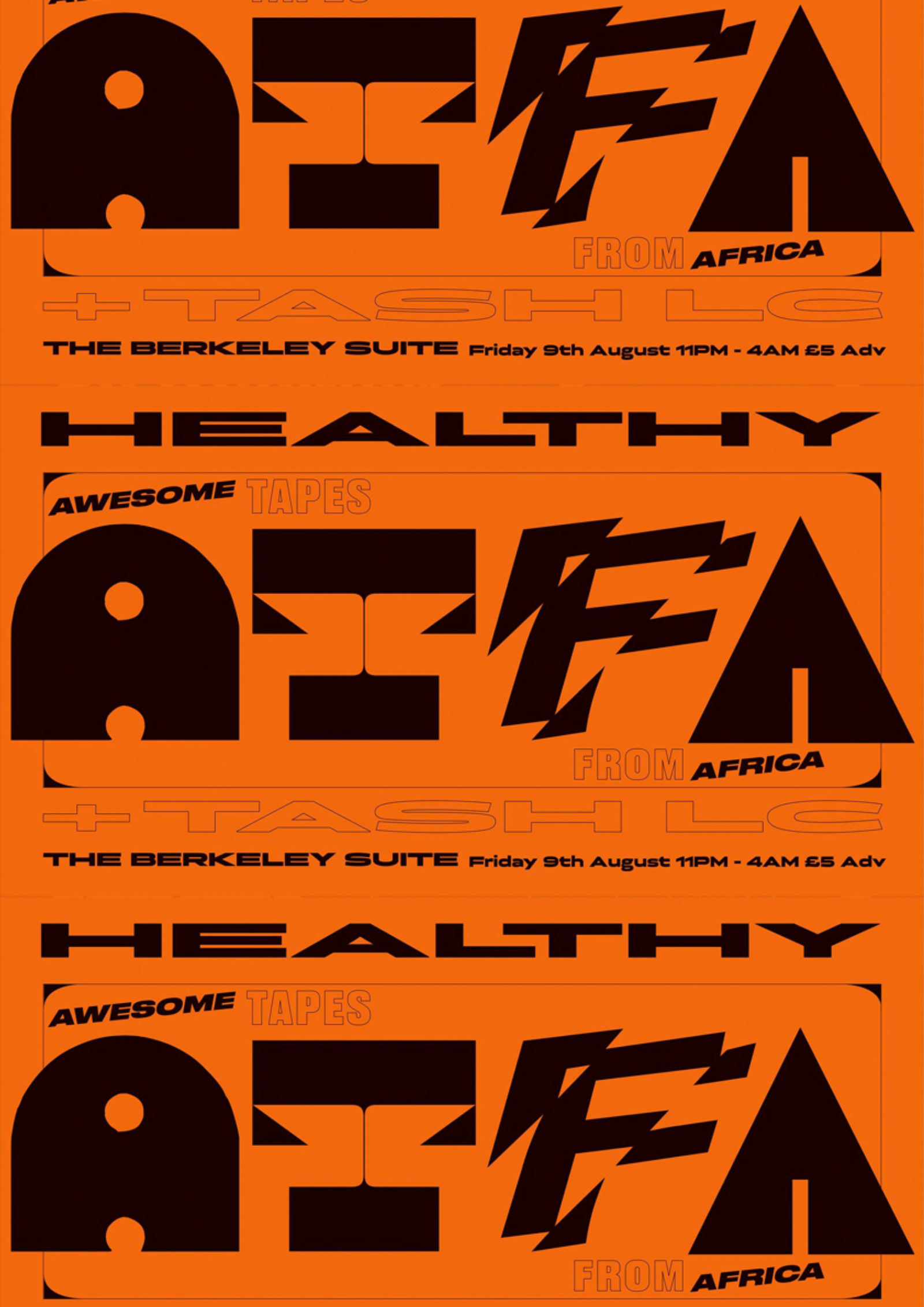 HEALTHY - Awesome Tapes From Africa & Tash LC